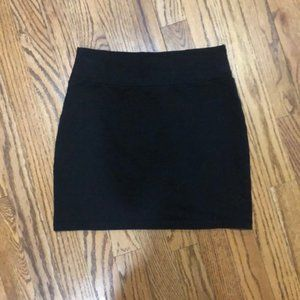 Buttons Black Mini Skirt - Size S